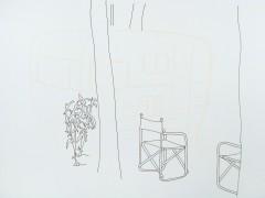 Planta, árboles y una silla y media. De la serie Casas y Casillas, 2008.