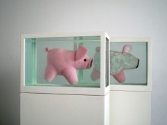Two Piglets (or About  the study of  leading roles), 2008.