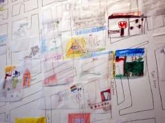 En la otra cuadra. Collaborative art project, Conversaciones de Campo (Rosario Carmona, Catalina Matthey, Rosario Montero y Paula Salas). Gabriela Mistral Gallery, Santiago, Chile, 2012