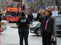 Action undertaken during the Edinburgh Festival involving 10 people walking the streets 2011