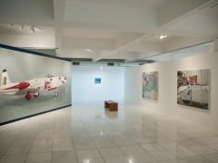 """Left: """"dialectic tif"""", 2007, oil on canvas, 280 x 760 cm."""