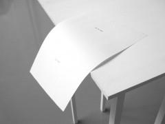 Escultura – modo de empleo: Sobre la mesa / En el aire