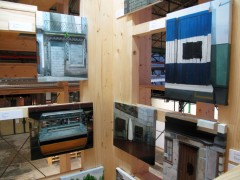 Exhibition view of You are Here, LiMAC tower ASA warehouse, 2012