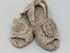 De Villahermosa, pair of shoes in jute bag, 2010