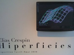 """""""Hiperficies"""" Elias Crespin. Space: ARts Longa.Paris. May 2010"""