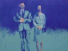 Pareja Azul 2014 0leo sobre lienzo 200x150cm
