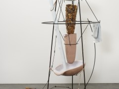 Tunga The Bather, 2014 Iron, steel, resin, ceramics, plaster, and cotton paper 220 x 150 x 150 cm © Tunga, Courtesy of the artist and Luhring Augustine, New York