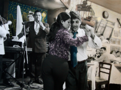 Leonora Vicuña, Pareja en Cinzano Bar, Valparaiso, Chile, © Leonora Vicuña