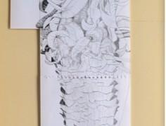 Frailejometría comparada, Grafito sobre papel de bitácora  1,70 x 60 cm, 2012