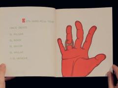 Cinq doigts est un livre pour enfants écrit à l'origine à Berlin-Ouest. Il se compose d'une seule histoire. Publié en Argentine le 26 novembre 1975 par Ediciones de la Flor, il raconte l'histoire de cinq doigts rouges qui, sous la poursuite constante d'une main verte, trouvent la force de s'unir et de devenir un poing. Les deux mains, la droite et la gauche engagent alors un combat. Dans la province de Neuquén, une copie de ce livre est arrivé entre les mains de la famille d'un colonel qui prit alors toutes les dispositions nécessaires pour supprimer le livre du circuit du Ministère de l'Education durant la dictature, donnant pour argument de cette censure que la main vaincue portait les couleurs des treillis de l'armée nationale.