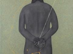 Figura masculina de rodillas