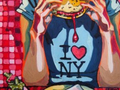 I love NY, oil on canvas, 2006, private collection