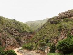 Cañon rocoso del río Umpalá en la ruta a Barichara