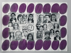 The 23rd History of the Human Face (Aljo-Violet). Airmail Painting No. 128, 1999