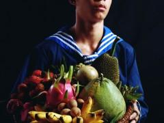 Bruce Yonemoto, Boy with a Basket of Fruit, 2010
