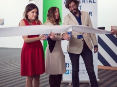 Isa Natalia Castilla, Daniela Elbahara, and Brett Schultz, organizers of Material Art Fair