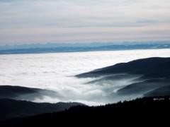 Mer de nuages, sommet du Hohneck Vosges