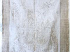 trophy art inkjet on antique linen, antlers, latex paint various sizes