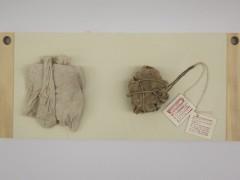 Archeological Matter #4, 2015 - clay, cotton, linen, cardboard 46x20x8 cm