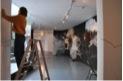 Vegetal maquiníco, Dibujo abierto al público, técnica mixta sobre la pared, 2009
