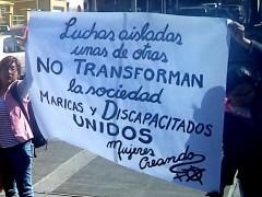 Rebeldía lésbica en la Puerta de la Residencia Presidencial